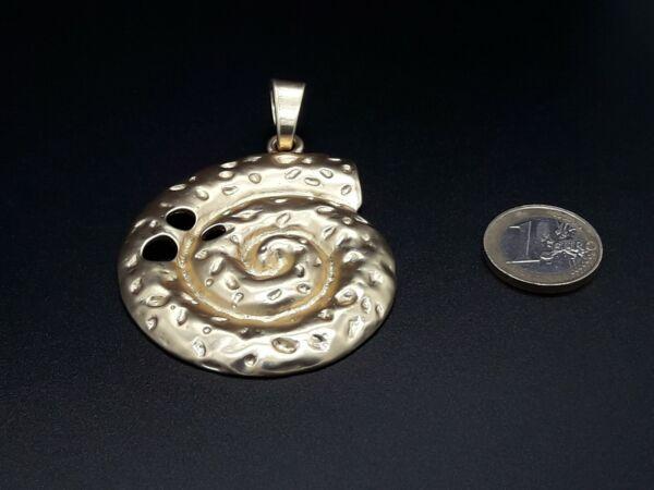 1 A 15 Anhänger Hochwertig Zamak Meeresschnecke Golden (mar-38bd) Spirale