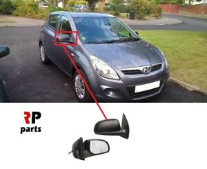 HYUNDAI-GETZ-2005-2011-I20-2008-2014-WING-MIRROR-MANUAL-BLACK-RIGHT-LHD