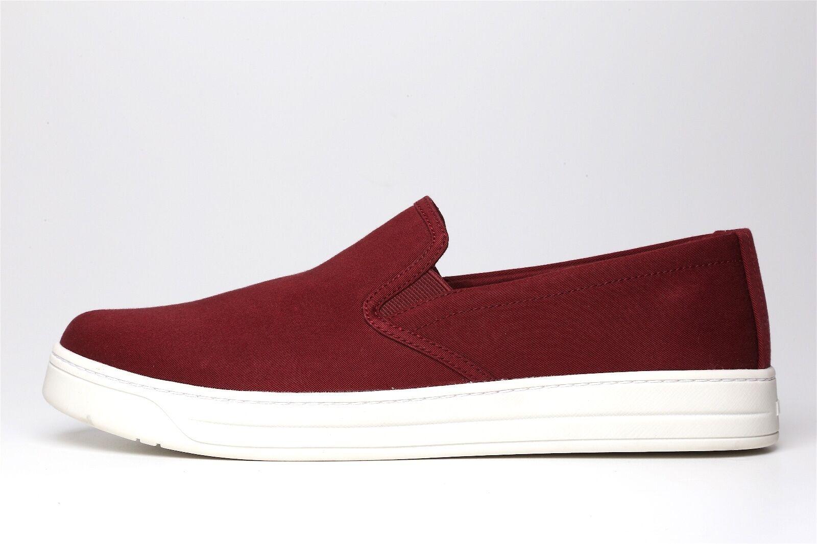 Prada Women's Burgundy White Slip On On On shoes 6185 Size 40.5 EUR  565 a81b92