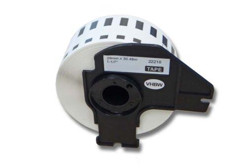 ENDLOS DRUCKER ETIKETTEN 29mm x 30.48m WASSERFEST für BROTHER P-touch QL-700