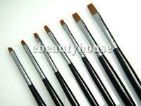 7 Sizes UV Brush Acrylic Nail Art Tool Painting Manicure #045G