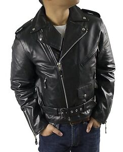 herren bikerjacke echt lederjacke brando kult jacke. Black Bedroom Furniture Sets. Home Design Ideas