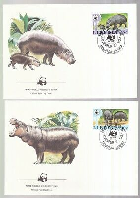 Sinnvoll Liberia 1984 Fdc Minr. 1315-1318 Zwergflußpferd Wwf Buy One Give One