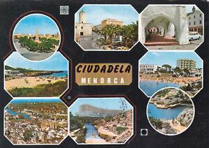 Various-Views-Ciudadela-Menorca-Postcard-used-VGC
