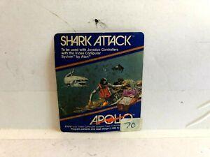 Atari-Shark-Attack-1982-Cartridge-Label-INSERT-ONLY-authentic-Original