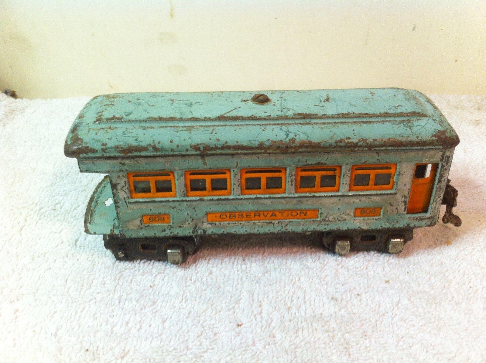 Vintage Lionel Train Pullman 608 Observation  Car O scale