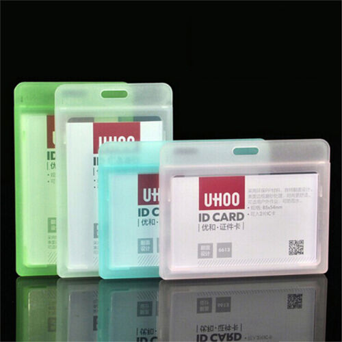 1PC ID Card Holder Clear Plastic Badge Resealable Waterproof Business Case NEW