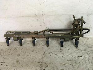 JDM 1998-02 Nissan Skyline R34 GTT 2.5L RB25DET OEM Fuel Rail & Fuel Injectors