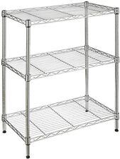 HDX 3-Shelf 23.3 H Storage Unit Storage Furniture Adjustable Shelves Finish New
