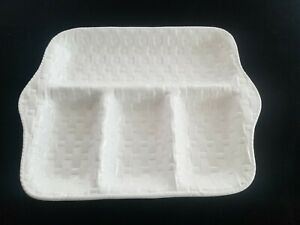 Neuwirth-Pottery-Portugual-Divided-Platter-Basket-Weave-Pattern