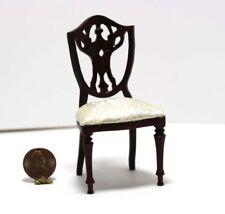 Dollhouse Miniature Kitchen Dining Room Ladder Back Chair in Walnut ~ T6113