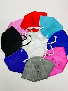 Günstige Farbige Bunte FFP2 Masken im 5er Pack , CE0598, CE2163, Mundschutz