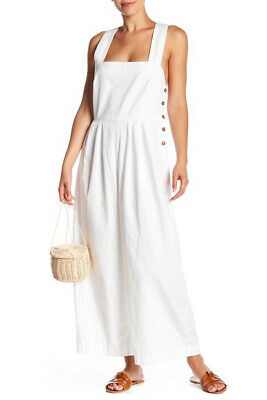 Free People Womens Fara OB778401 Jumpsuit Cosmo White Size US 4