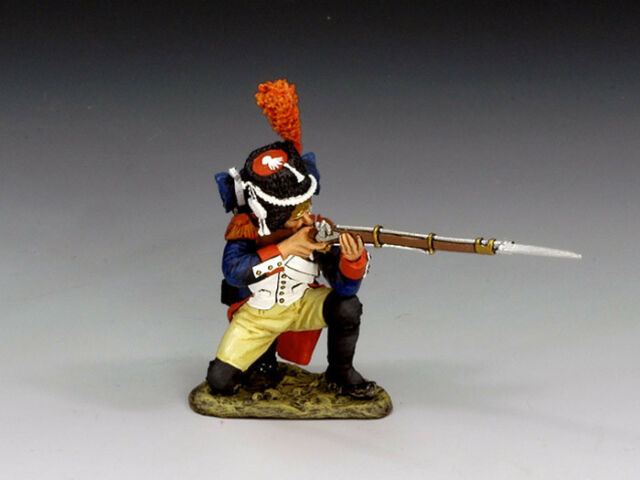 KING & COUNTRY Age Of Napoleon NA153 French Old Guard Grenadier Kneeling Firing