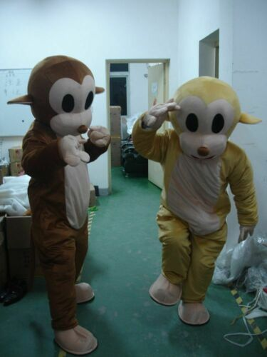 Monkey Mascot Costume Suit Cosplay Party Game Dress Outfit Halloween Adult 2019