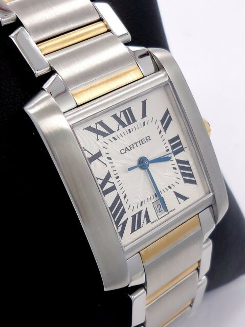 8d03c8284b8 CARTIER Large Tank Francaise Two Tone 18K Yellow Gold   SS Automatic 2302   MINT