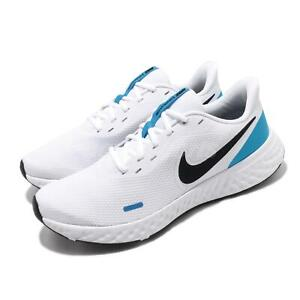 Details about Nike Revolution 5 White Black Blue Hero Men Running Shoes Sneakers BQ3204 101