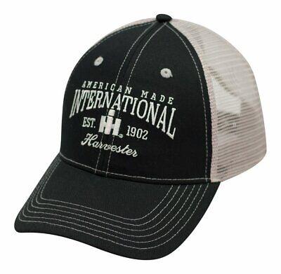 ADULT ALL MESH INTERNATIONAL HARVESTER BLACK CAP