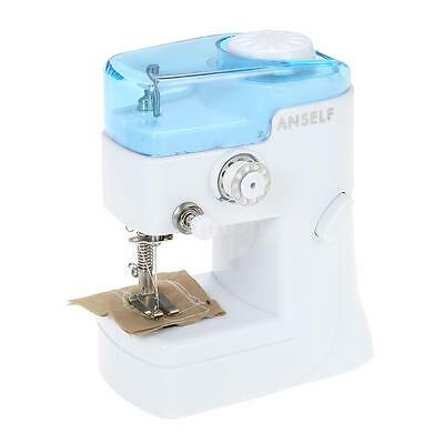 Anself Sewing Machine Portable Stitch Sew Quick Handy Cordless Repairs Mini P9A6