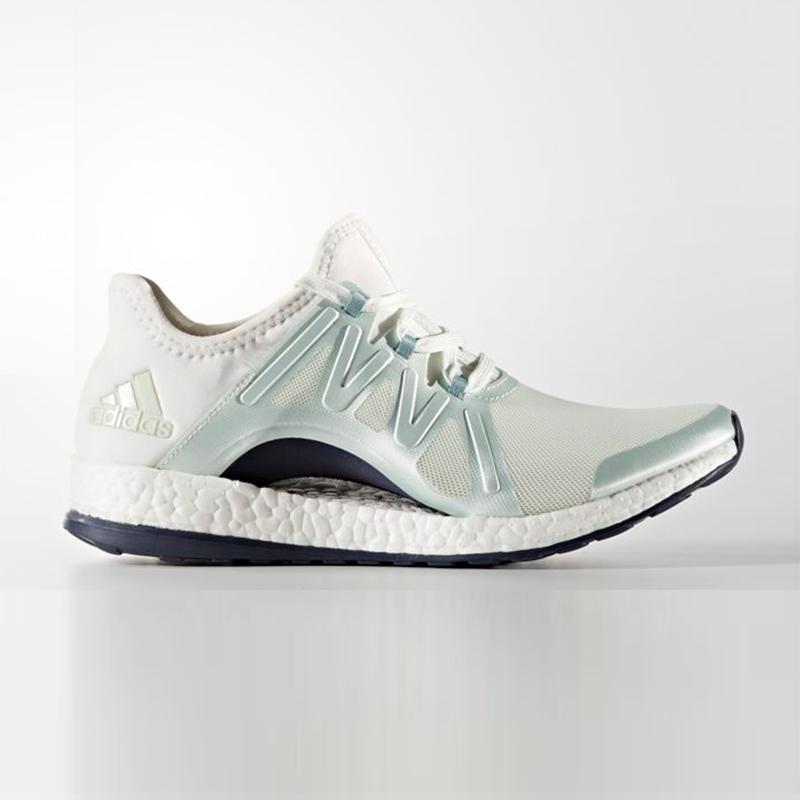 New Adidas Womens PUREBOOST X POSE WHITE / GREEN / GREY BB1732 US W 5 - 8 TAKSE