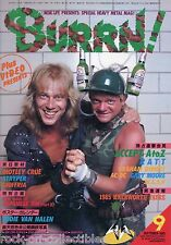 Burrn! Heavy Metal Magazine September 1985 Japan Accept AC/DC Ratt WASP