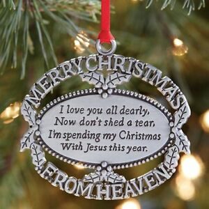 merry christmas from heaven ornament moone01