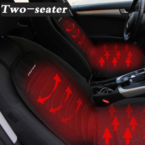 2-Seater Universal Car Seat Heater Warmer Heated Cushion Pad Cover Temperature