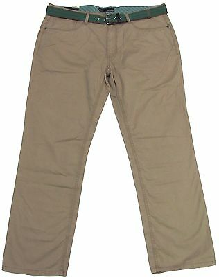 New $65 Mens WEATHERPROOF Relaxed-Straight Chino Pants Mid-Rise Twill Khakis Tan