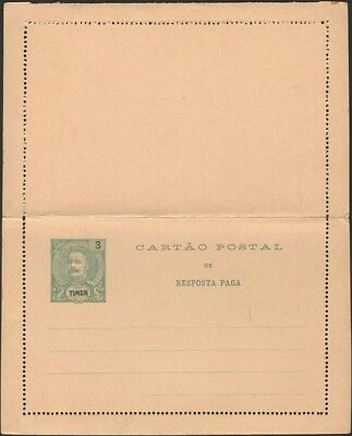 TIMOR 1905 Paid Reply Letter Card HG 5 Mint