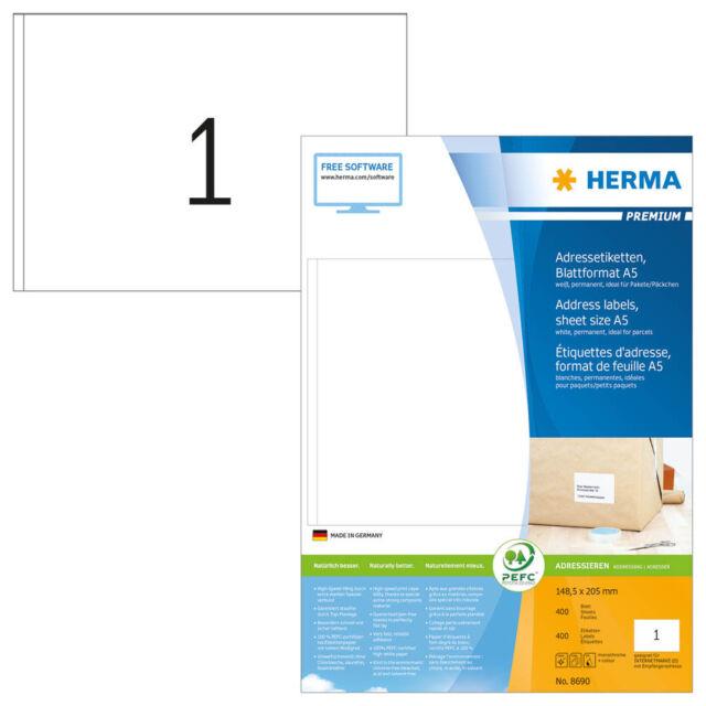 400 Herma Etiquetas 8690 Blanco