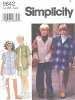 Simplicity 9842 Girls' And Boys' Separates Sewing Pattern