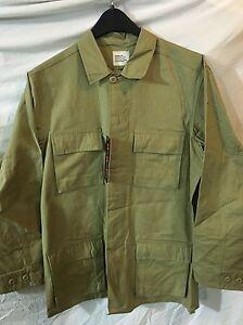 8c71f2799e9 Khaki BDU Shirt Jacket Ripstop Cotton Blend Many Pockets XSM-SM NWT ...