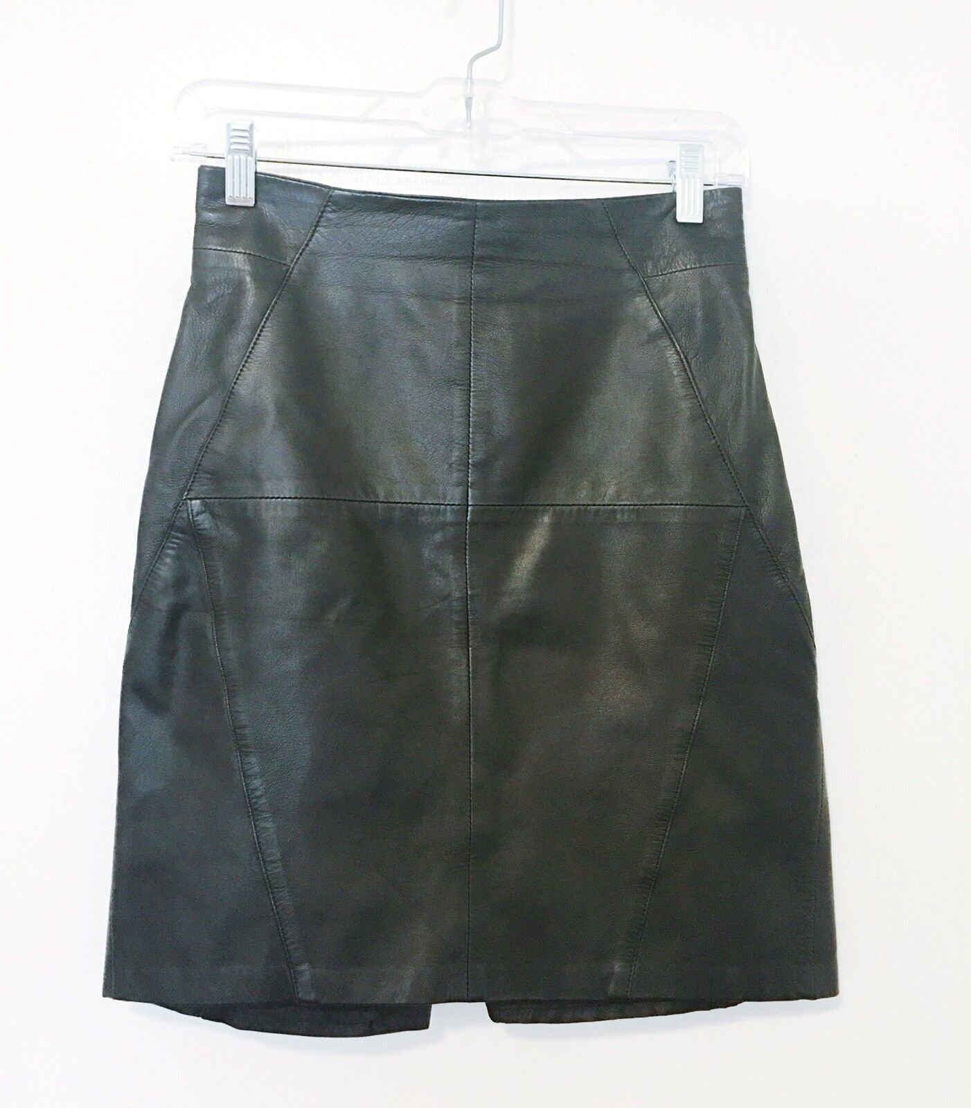 H&M Genuine Leather Knee Length Skirt Größe 6