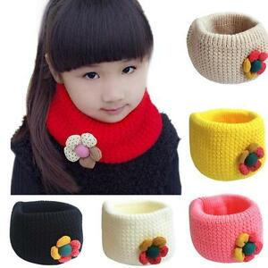 Toddler Baby Kids Girl Boy Neck Knitted Scarf Snood Circle Shawl Neckerchief