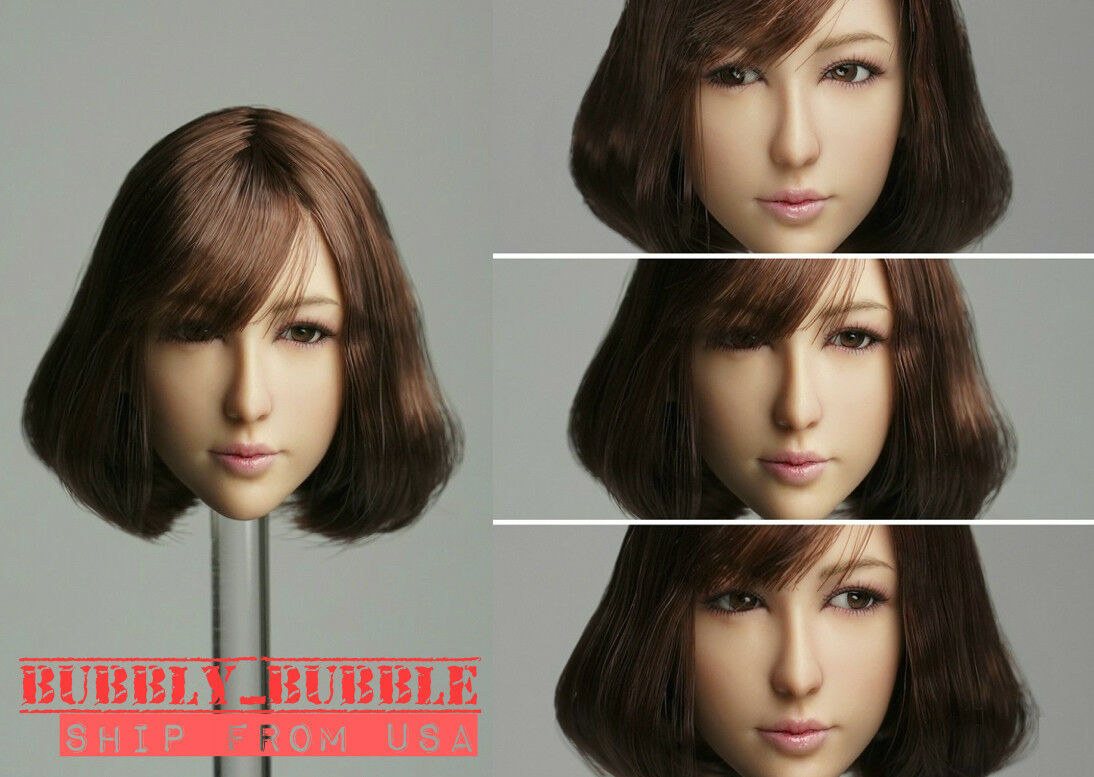 1 6 Asian Female Head Sculpt A Movable Eyes For 12  Hot Toys PHICEN Figure  USA