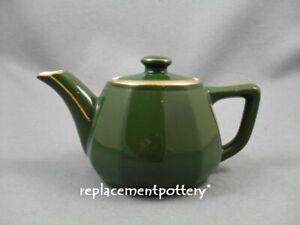 Apilco-Bistroware-Green-amp-Gold-Teapot
