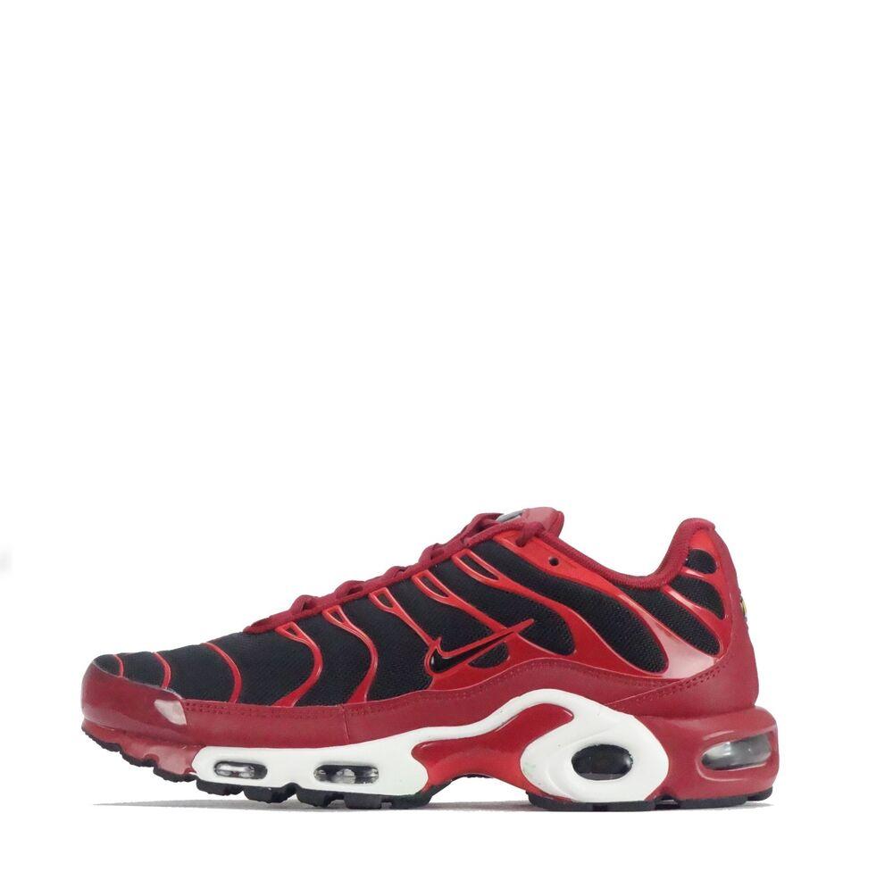 Nike Air Max Plus Tuned TN Baskets homme en Dur Rouge/Noir-
