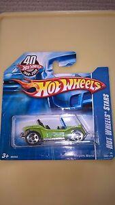 Hot-Wheels-VW-Volkswagen-BEACH-BUGGY-MEYERS-MANX-Comme-neuf-on-card-datee-du-2007