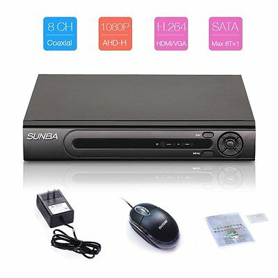 SUNBA 8CH 1080P HDMI Full AHD H.264 Security DVR P2P Digital Video Recorder