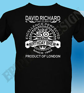Year 40th Birthday T-Shirt Customise Personalised Name Age Gift 3XL 4XL 5XL