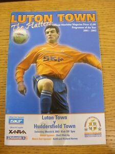 08032003 Luton Town v Huddersfield Town  Faint Fold - <span itemprop='availableAtOrFrom'>Birmingham, United Kingdom</span> - Returns accepted within 30 days after the item is delivered, if goods not as described. Buyer assumes responibilty for return proof of postage and costs. Most purchases from business s - Birmingham, United Kingdom