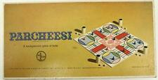 Vintage Toy Board Game PARCHEESI Backgammon India 1964 Selchow & Righter