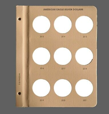 Dansco Album Extra Page For 9 Bust Quarters Coins New Free Shipping All US