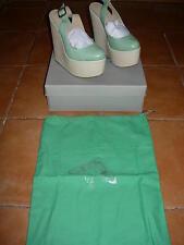 chloe green misha wedge shoes,never been worn