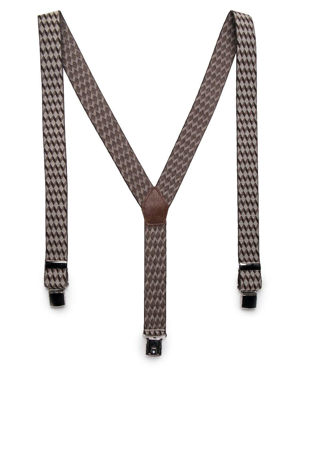Clip Fashion Dress Vegan Brace on Chechered Plaid Geometric Elastic & Adjustable