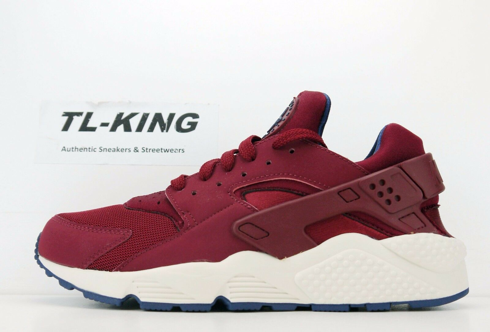 Nike Air Navy Huarache Team Red Navy Air Sail Trainer Sneaker 318429 608 Msrp $110 BW ff1416
