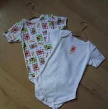NEW Baby Girls Clothes 12-18 months DISNEY 2x Cotton Novelty Short Sleeved Vests