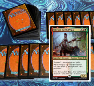 mtg-RED-GREEN-GRUUL-COMMANDER-EDH-DECK-Magic-the-Gathering-nikya-rare-cards