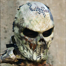Cosplay Paintball Outdoor Game Metal&Mesh Warrior Full Face Airsoft Mask A05