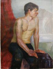 Russian Ukrainian Oil Painting male figure Portrait nude boy realism